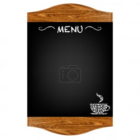 Illustration for Restaurant Menu Board With Gradient Mesh, Isolated On Red Background, Vector Illustration - Royalty Free Image