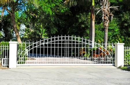 Photo for Sliding Residential Security Gate System - Royalty Free Image