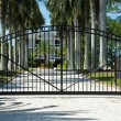 Iron Security Gates Protecting the Entrance to a P...