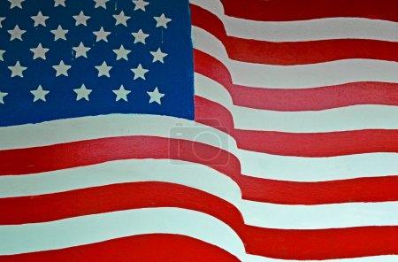 Photo pour Peinte aux États-Unis drapeau - image libre de droit