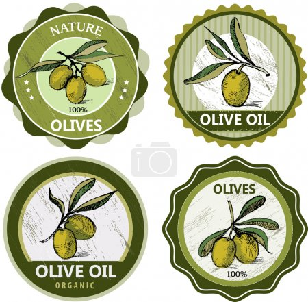 Photo for Illustration - Olives labels collection - Royalty Free Image