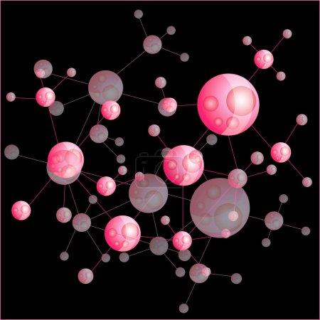 Photo for Molecule illustration - Royalty Free Image