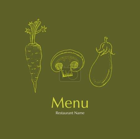 Photo for Illustration - Restaurant Vegetarian Menu Cards Design - Royalty Free Image