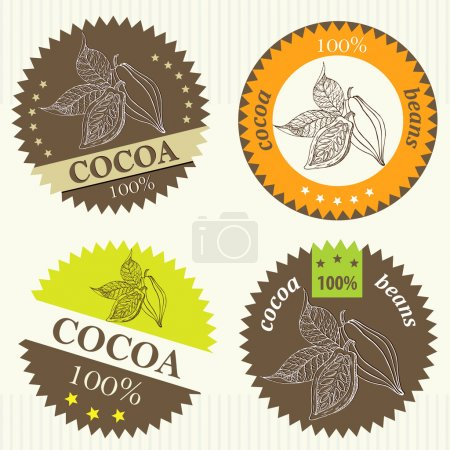 Photo for Cocoa beans labels - Royalty Free Image