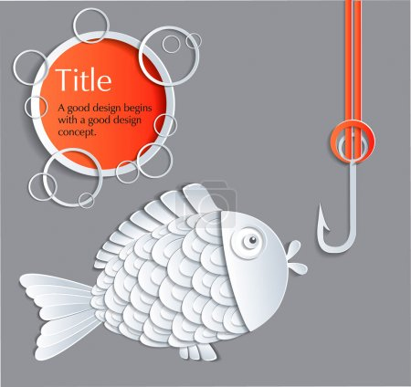 Photo for Card with picture of original concept of fish - Royalty Free Image