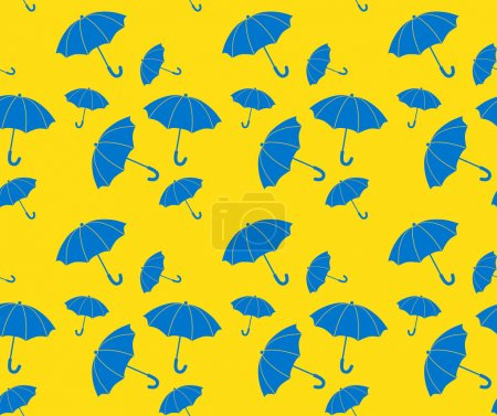 Photo for Vector seamless pattern umbrellas - Royalty Free Image