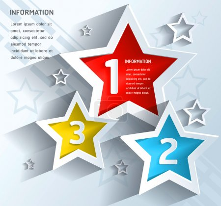 Photo for Vector abstract star background - Royalty Free Image