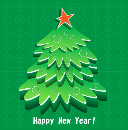 Photo for New Year green tree - Royalty Free Image