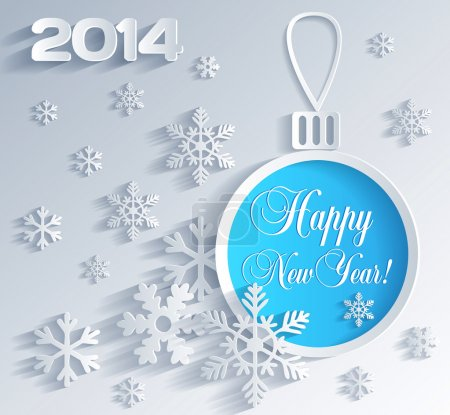 Photo for New Year card with Christmas ball decoration - Royalty Free Image