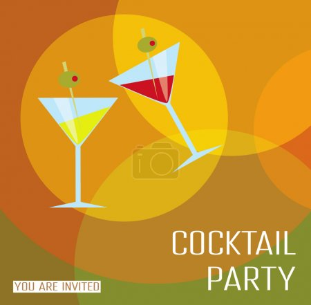 Photo for Card cocktail party. - Royalty Free Image