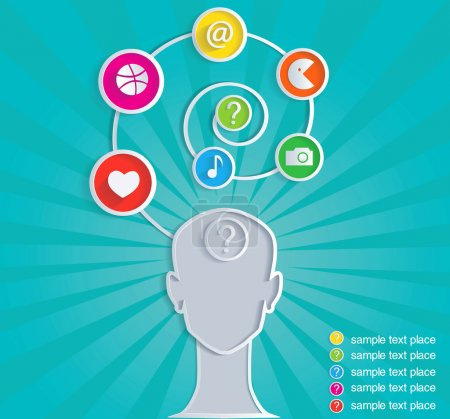 Photo for Social symbol of person in mass media network. Infographic. - Royalty Free Image