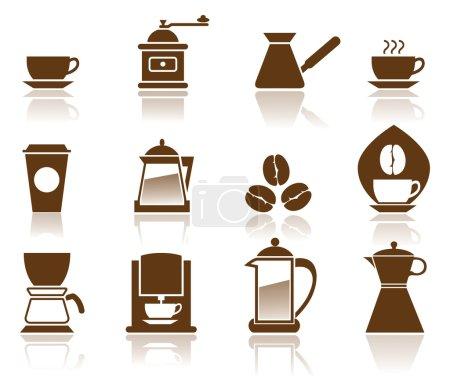 Photo for Illustration - Elegant Coffee Icons Set. - Royalty Free Image