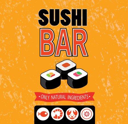 Photo for Sushi bar. Vector illustration of the menu for sushi bar. - Royalty Free Image