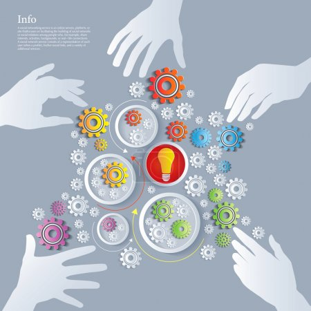 Photo for Illustration - Exchange knowledge. Scheme, design, graphics - Royalty Free Image