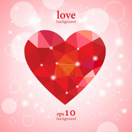 Photo for Greeting valentine card - Royalty Free Image