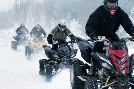 Winter motocross