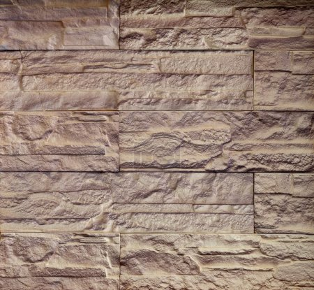 Photo for Neat and tidy stone wall surface texture. - Royalty Free Image