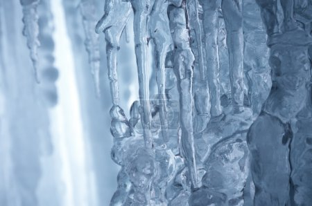 Winter icefall background