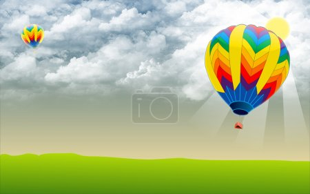 Hot air ballon - Stock Image