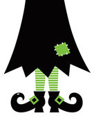Retro Halloween Witch isolated on white