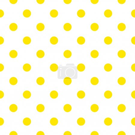Illustration for Fabric with yellow fresh dots. Retro vector background or pattern - Royalty Free Image