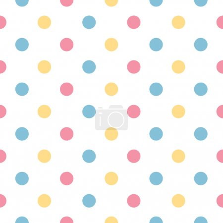 Illustration for Fresh polka dot seamless background or pattern. Vector - Royalty Free Image
