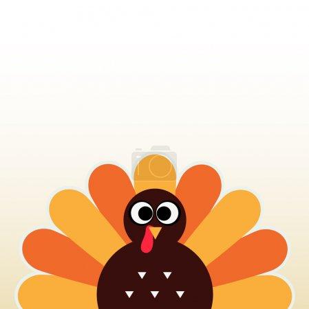 Illustration pour Joyeux Thanksgiving carte de jour avec copyspace. Illustration vectorielle - image libre de droit