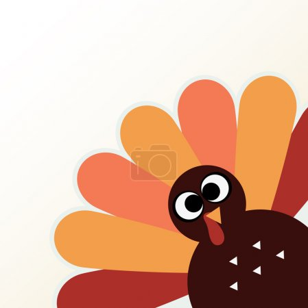 Happy Thanksgiving day with colorful funny Turkey. Vector Illustratio