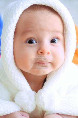 Photo for Baby look at the camera portrait - Royalty Free Image