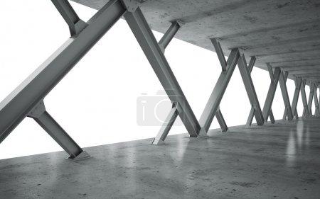 Photo pour Poutres et structure en béton monochrome - image libre de droit