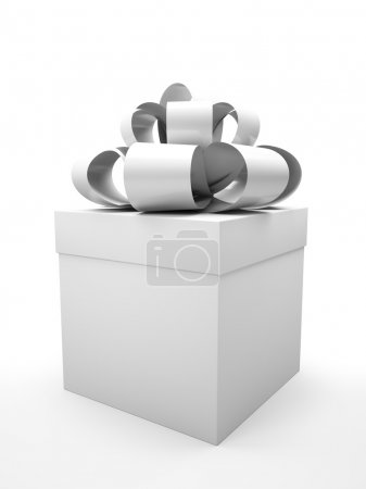 Photo for Colorless gift box isolated on white backgroung illustration - Royalty Free Image