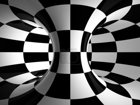Black-and-white abstraction