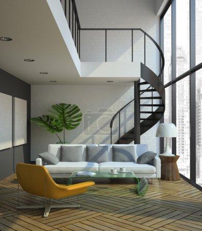 Photo for Modern loft interior - Royalty Free Image