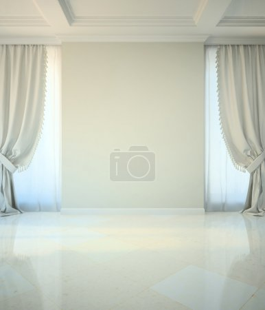 Photo for Empty room in classic style illustration - Royalty Free Image
