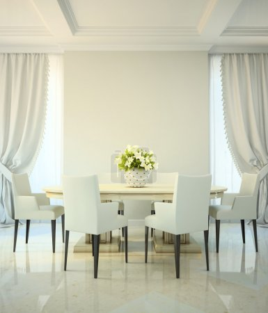 Photo for Dining room in classic style - Royalty Free Image
