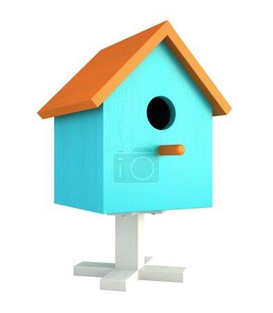 Blue nesting box isolated on white background