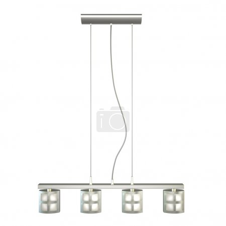 modern chandelier isolated on white background