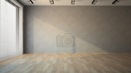 Photo for Empty room with parquet floo - Royalty Free Image