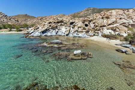 Rock formations in kolymbithres beach, Paros island