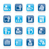 Business management and hierarchy icons - vector icon set