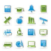 Vzdělání a škola objekty ikony