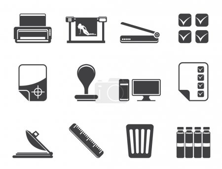 Silhouette Print industry Icons
