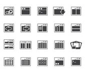 Silhouette Application Programming Server and computer icons vector Icon Set 2