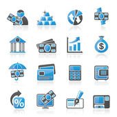 Bank business and finance icons - vector icon set