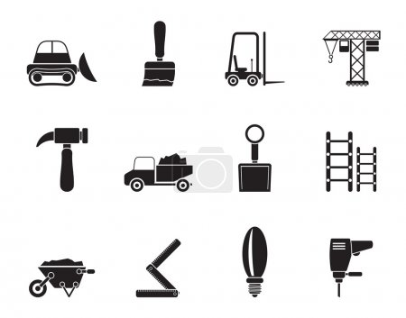 Silhouette Building and Construction equipment icons