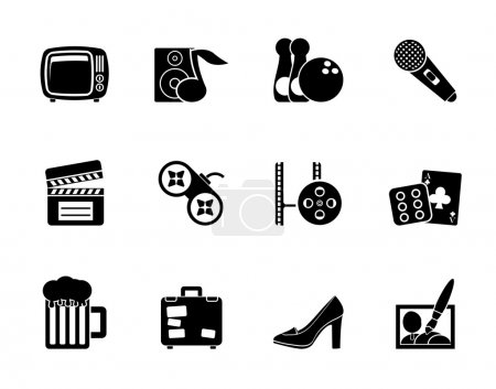 Silhouette Leisure activity and objects icons