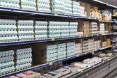 Grocery Store Dairy Shelves