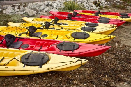 Colorful Touring Kayaks
