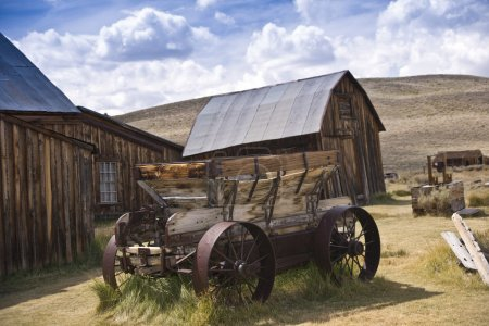 Rustic Old West Barn and Wagon