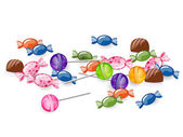 Vector Illustration of isolated Colorful Candies